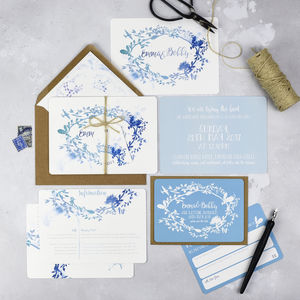 'Our Story' Wedding Invitations More Colours - save the date cards