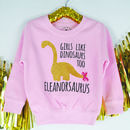 'Girls Like Dinosaurs Too' Girls Sweatshirt