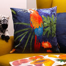 Exotic Bird, Macaw Parrot Animal Print Cushion