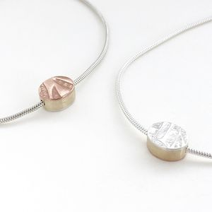 Tiniest Oval Reversible Necklace - necklaces & pendants