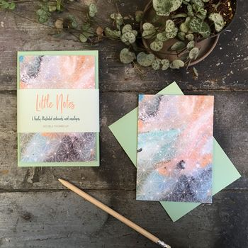 Geometric Marble Notelet Gift Set