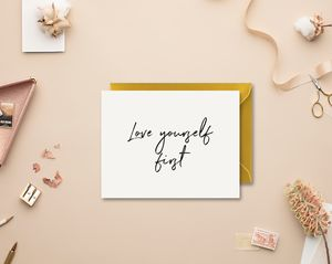 Motivational Love Anti Valentine Card