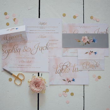Peach Dream Wedding Invites