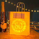 80th Birthday Party Bags Lanterns With Vellum