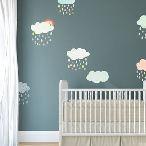 Patterned Cloud Fabric Wall Stickers - wall stickers