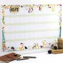 2019 Woodland Wall Calendar And Year Planner