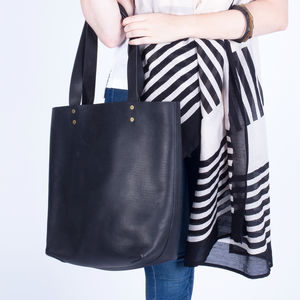 Leather Tote Bag, Vegetable Tanned And Ethically Made