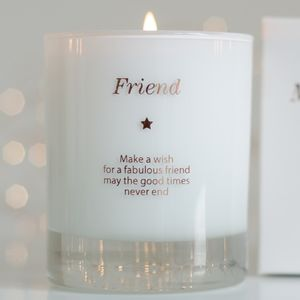 Make A Wish For True Friendship Candle - home accessories