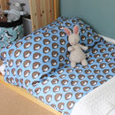 Boys Blue Hedgehog Single Duvet Set