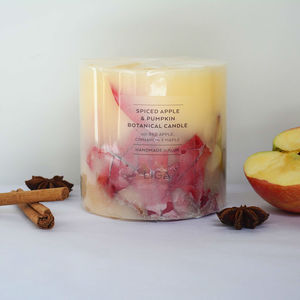 Botanical Apple And Pumpkin Candle