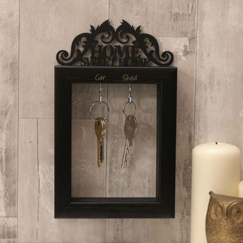 Home Sweet Home Key Holder in Black