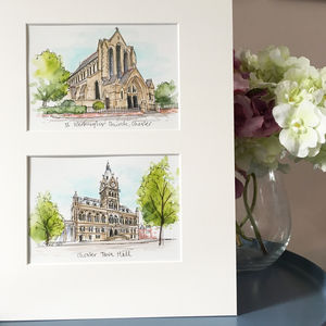 Double Wedding Venue Illustration