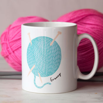 Personalised Knitting Mug Mother's Day Gift