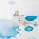 Silver Personalised Mini Book Locket