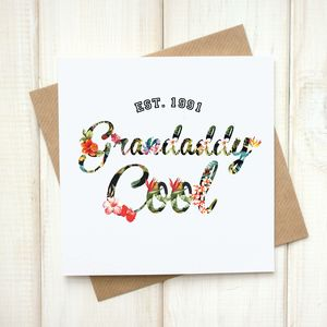 Grandaddy Cool Hawaiian Fathers Day Card - cards & wrap