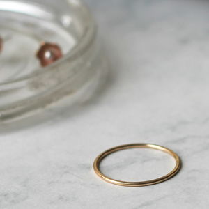 Skinny Stacking Ring Gold Fill - rings