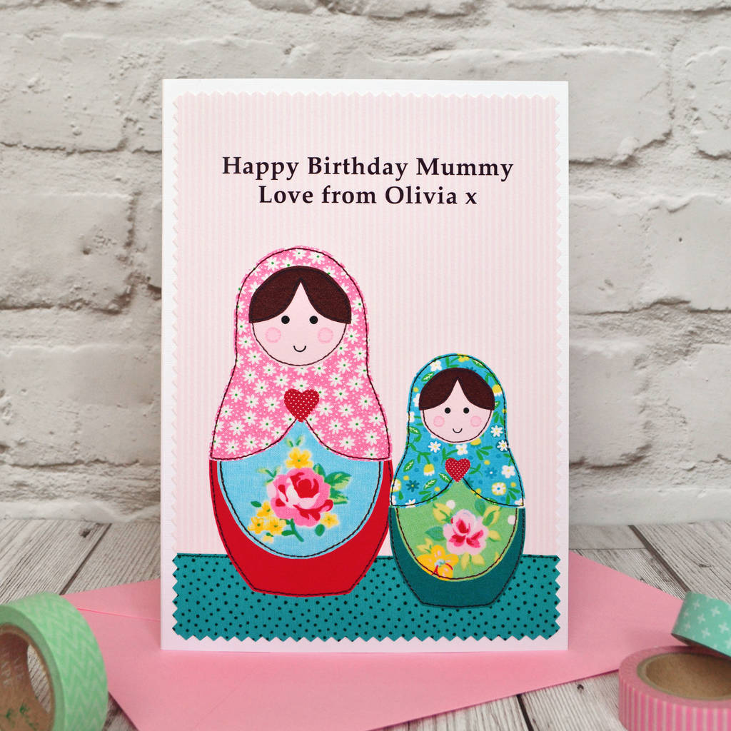 Russian Dolls Personalised Birthday Card