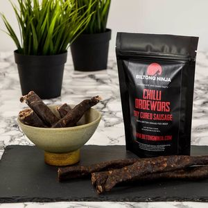 Chilli Droewors Dry Cured South African Sausage/Salami - new in food & drink