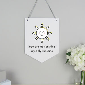 Sunshine Hanging Card Wall Flag - children's room