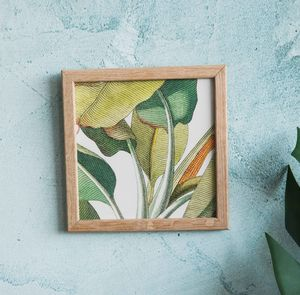 Banana Plant Detail Framed Mini Print - nature & landscape