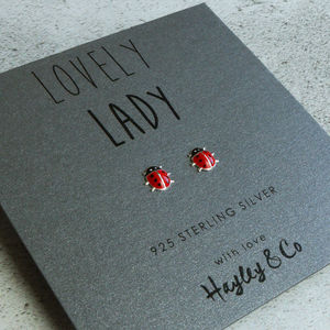 Lady Bird Sterling Silver Earrings