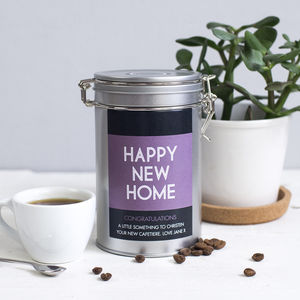 New Home Coffee Gift In Tin
