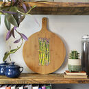 Hand Painted Asparagus Design Wooden Board