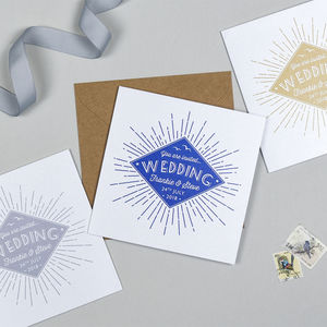 Starburst Wedding Invitation