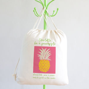 Personalised Pineapple Kit Bag
