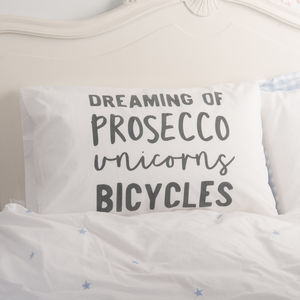Personalised 'Dreaming Of' Pillowcase - bedding & accessories
