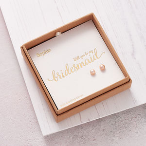 'Will You Be My Bridesmaid?' Ear Studs - earrings