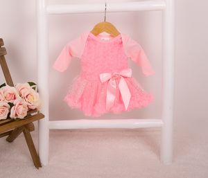 Baby Girl's Rose Pettiskirt Onesie With Sparkle