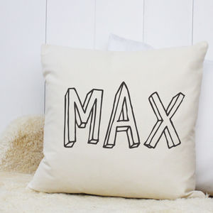 Personalised 'Bubble Name' Cushion - whatsnew
