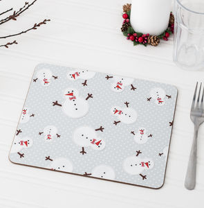 Christmas Snowman Placemat Set - tableware