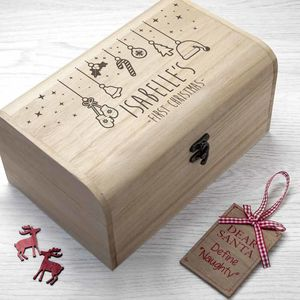 Personalised Baby's First Christmas Eve Box
