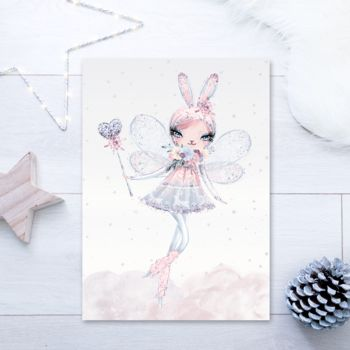 Magical Bunny Fairy Children's Colourful Pastel Print