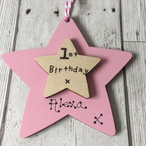Personalised 1st Birthday Wooden Keepsake Sign - decorative accessories
