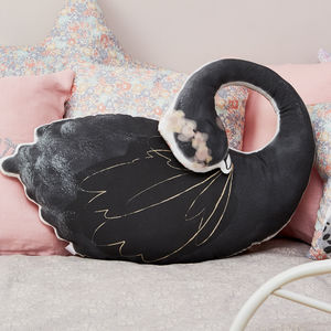 Black And Pink Swan Lake Cushion