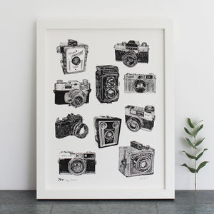 Vintage Camera Print - winter sale