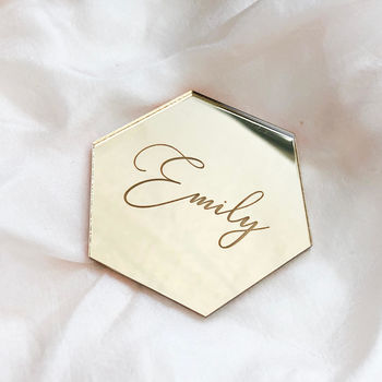Personalised Geometric Place Cards