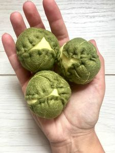 Set Of Three Pretend Play Felt Food Brussel Sprouts