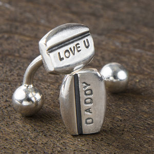 Silver Line Personalised Cufflinks - gifts for him