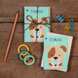 Children's Mini Thank You Cards Dog - thank you cards