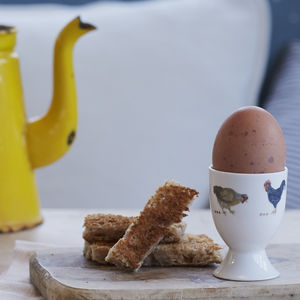 Country Chickens Egg Cup - dining room