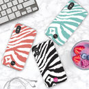 Zebra Print Personalised Initials iPhone Case