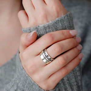 Juliet Sterling Silver Spinning Ring - jewellery