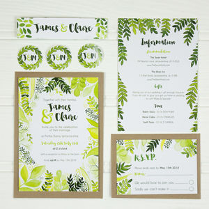 Botanical Wedding Stationery Collection - save the date cards