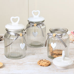 Amore Tea, Coffee And Sugar Storage Jars Gift Set