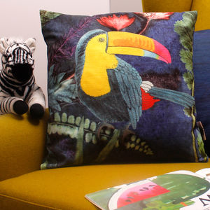 Tropical Toucan Animal Print Gift Cushion
