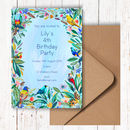 Bright Floral Party Invitations